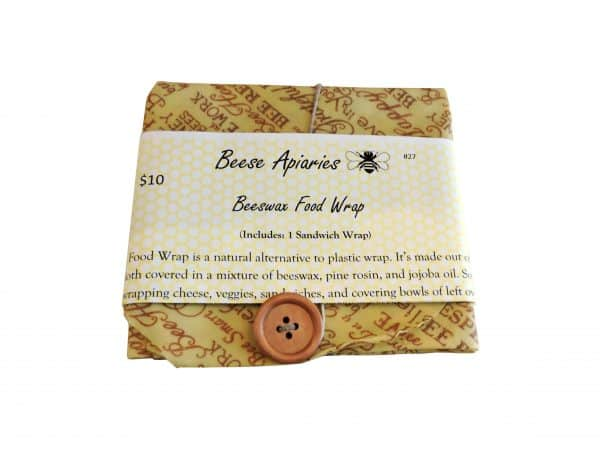 Beese Apiaries food wax wrap.