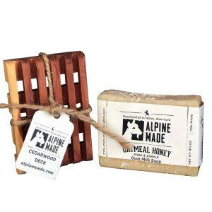 Alpine Made Oatmeal Honey Goat Milk Soap.