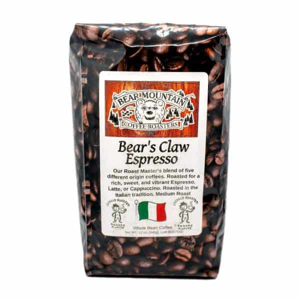 Bear Mountain Coffee Roasters Bear's Claw Espresso.