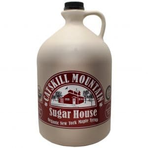 Catskill Mountain Maple Syrup jug.