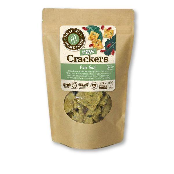 Healing Home Foods Kale Goji Crackers.