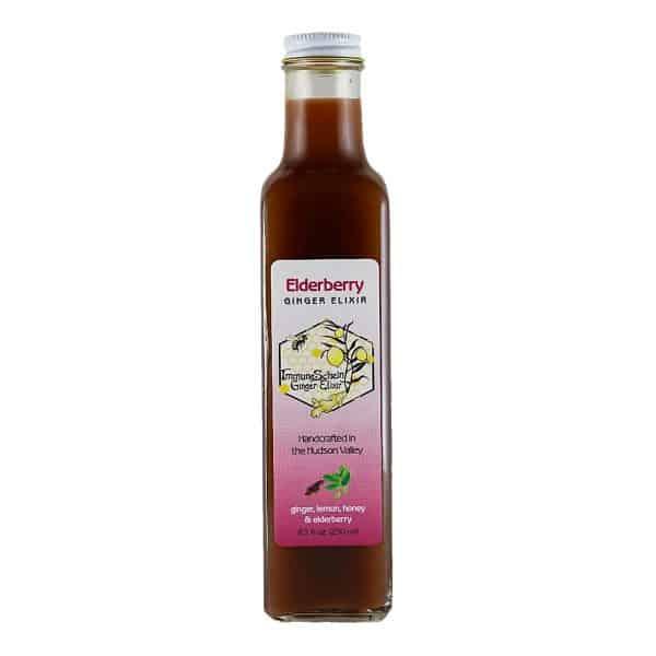 Immuneschein Ginger Elixir, Elderberry flavor.