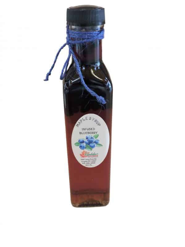 Lyndaker's Blueberry Infused Maple Syrup.