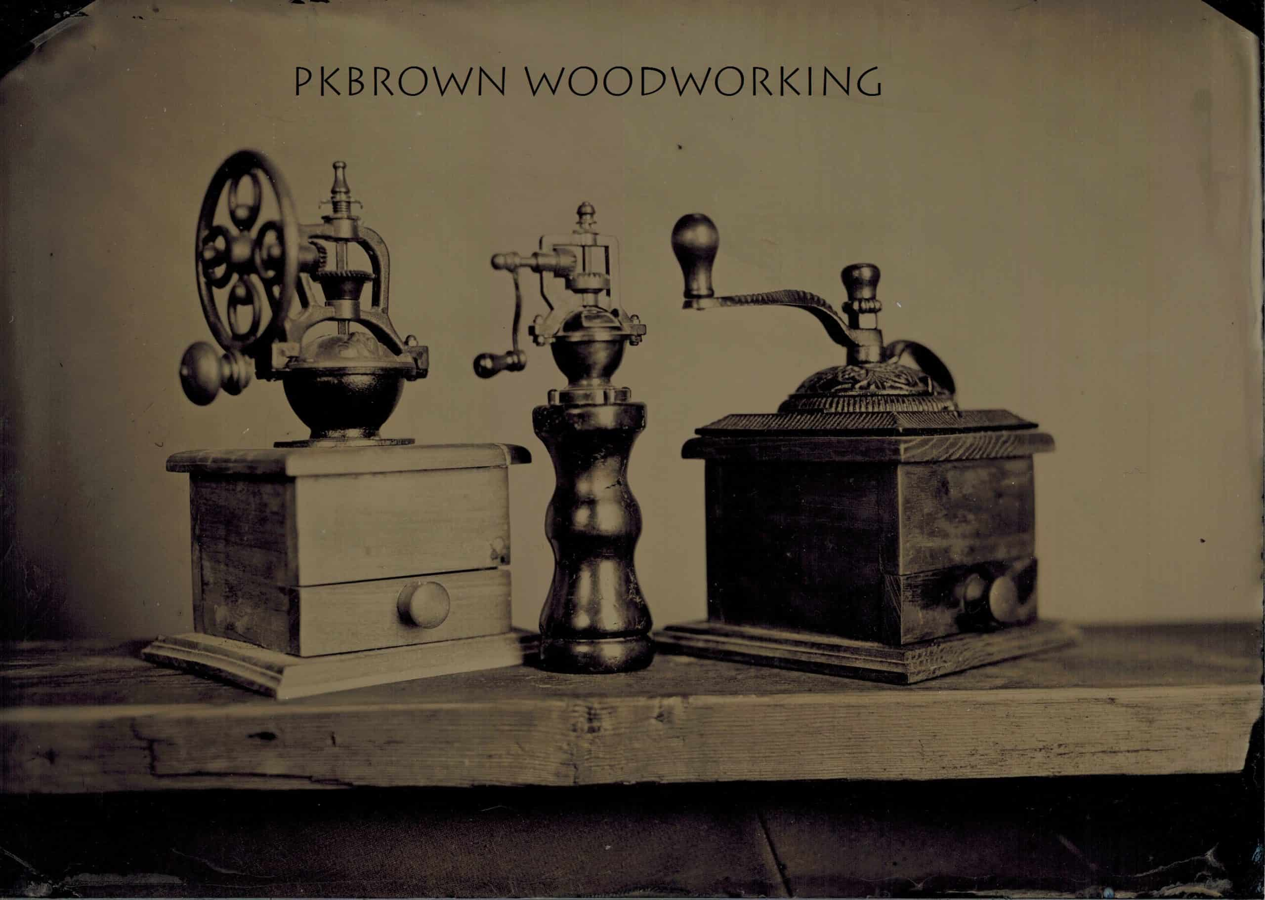 PK Brown Woodworking logo.