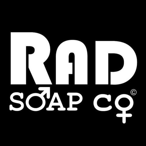 Rad Soap Co. logo.
