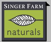 Singer Farm Naturals logo.