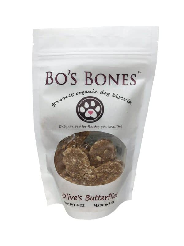 Bo's Bones Gourmet Dog Biscuits.
