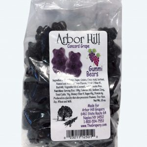 Arbor Hill Grapery's Grape Gummi Bears.