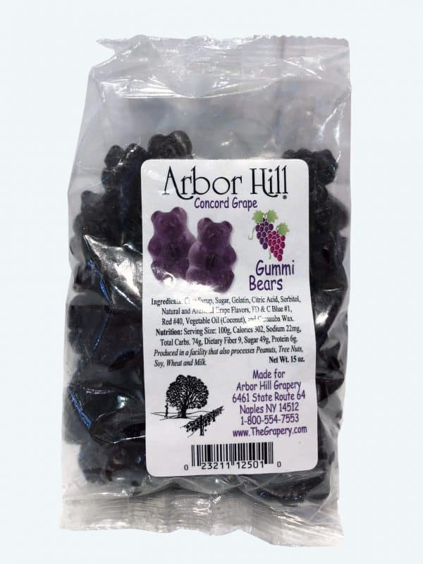 Arbor Hill Grapery's Grape Gummi Bears.