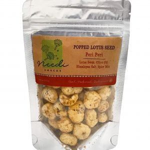 Needi Snacks - Peri Peri Popped Lotus Seed (front).