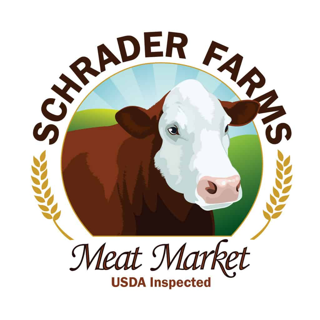 Schrader Farms logo.