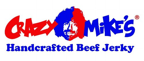 Crazy Mike's Beef Jerky logo.