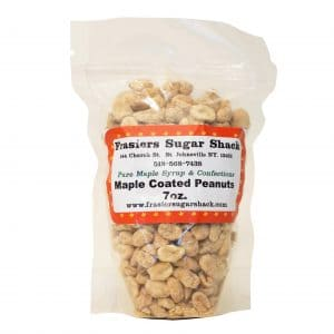 Frasier's Sugar Shack's maple coated peanuts.