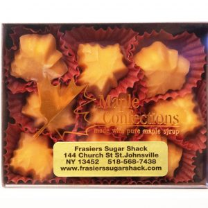 Frasier's Sugar House 9 piece maple candy box.
