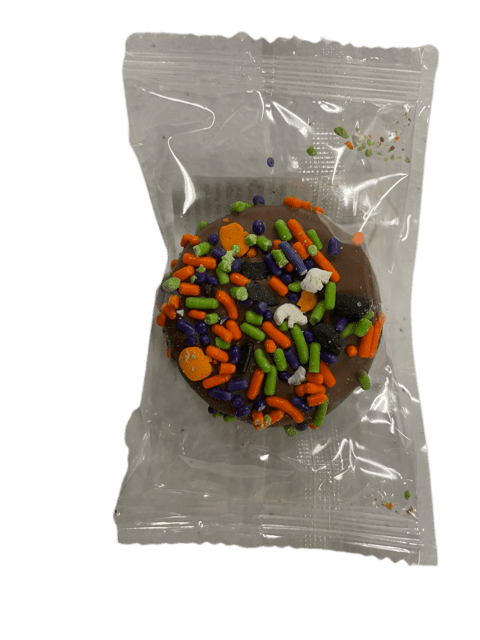 Chocolate Covered Vanilla Halloween Cookie